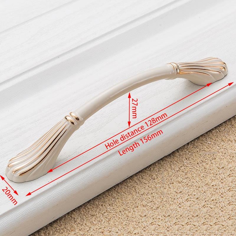 KAK цинк Aolly цвета слоновой кости ручки для шкафа кухонный шкаф дверные ручки для выдвижных ящиков Европейская мода оборудование для обработки мебели - Цвет: Handle-8822-128