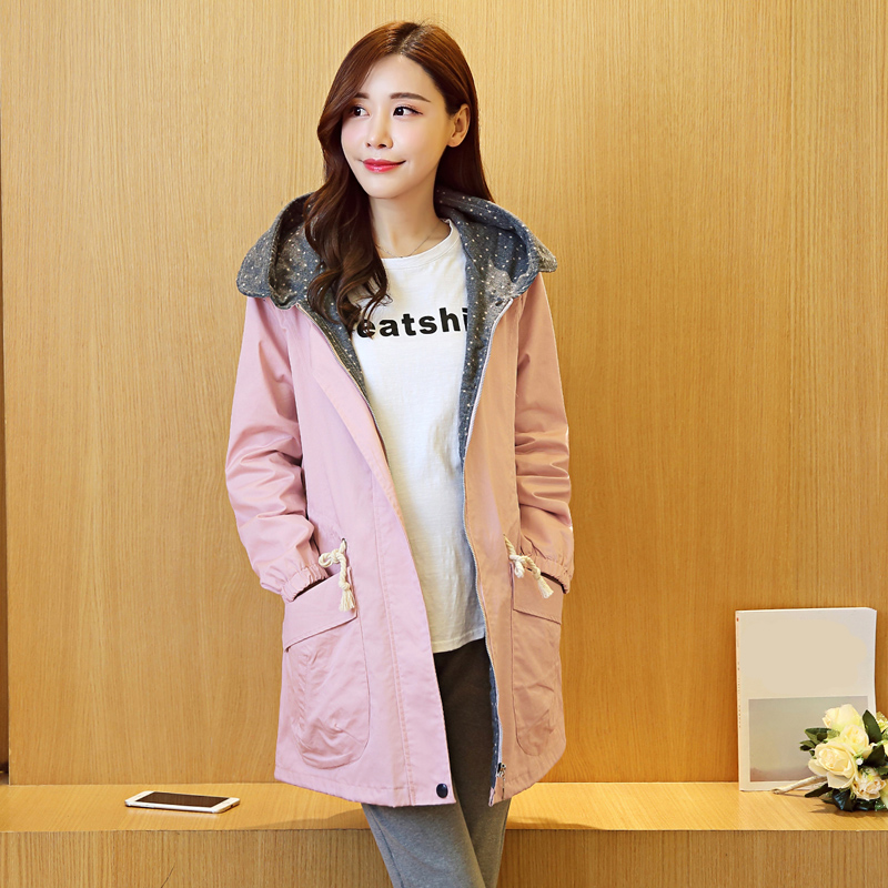 Jacket for pregnant 2018 new style maternity jacket fashion  loose pregnant women coat long hooded jacket maternity clothes new stely fashion loose pure color cloak jacket clothes for pregnant women coat