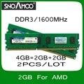 Оптовая 2 ШТ. Бренд РАМС 4 ГБ = 2 ГБ + 2 ГБ PC3-12800 1600 МГц Двухканальной DIMM Памяти для Настольных ПК Для AMD Система Быстрая Доставка
