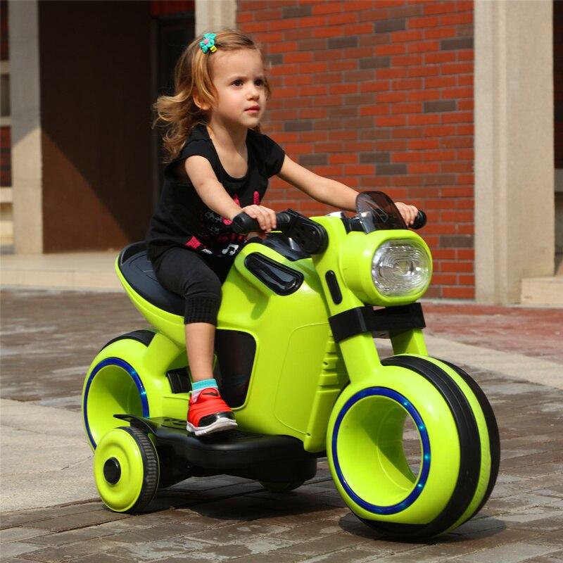 Детский Электрический двойной привод мотоцикл большой трехколесный велосипед мальчик девочка в возрасте 3 6 может сидеть ребенок игрушка м
