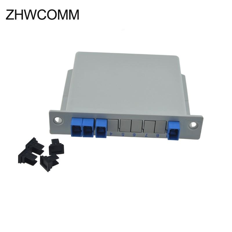 ZHWCOMM SC UPC PLC 1X3 Fiber Optical splitter FTTH PLC Splitter box Free Shipping