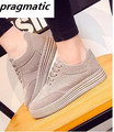 New Brand Fashion Women's Leather Casual Platform Shoes Female walking Lace Up Ladies Single shoes flat mocassin femme chaussure