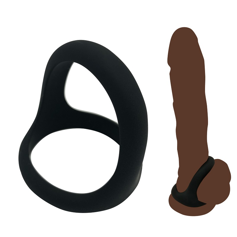 Top Quality Large Size Male Silicone Penis Lock Cock Ring Ball Stretcher BDSM Erection Ejaculation Sex Toy For Man