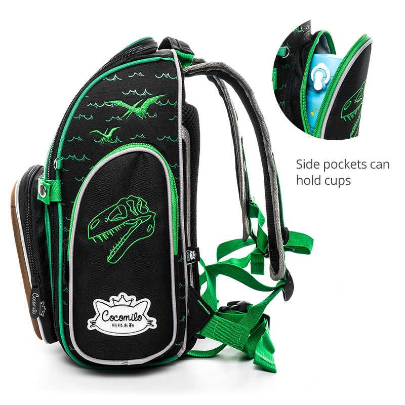 Cocolimo динозавр дизайн сумка для начальной школы для мальчиков детский ортопедический школьный портфель рюкзак для девочек Фея Mochila Escolar зеленый