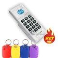Handheld 125 KHZ & 13.56 MHZ RFID Copiadora/Duplicador Leitor Programador + 10 pcs NFC Regravável Dupla freqüência de trabalho Keyfobs