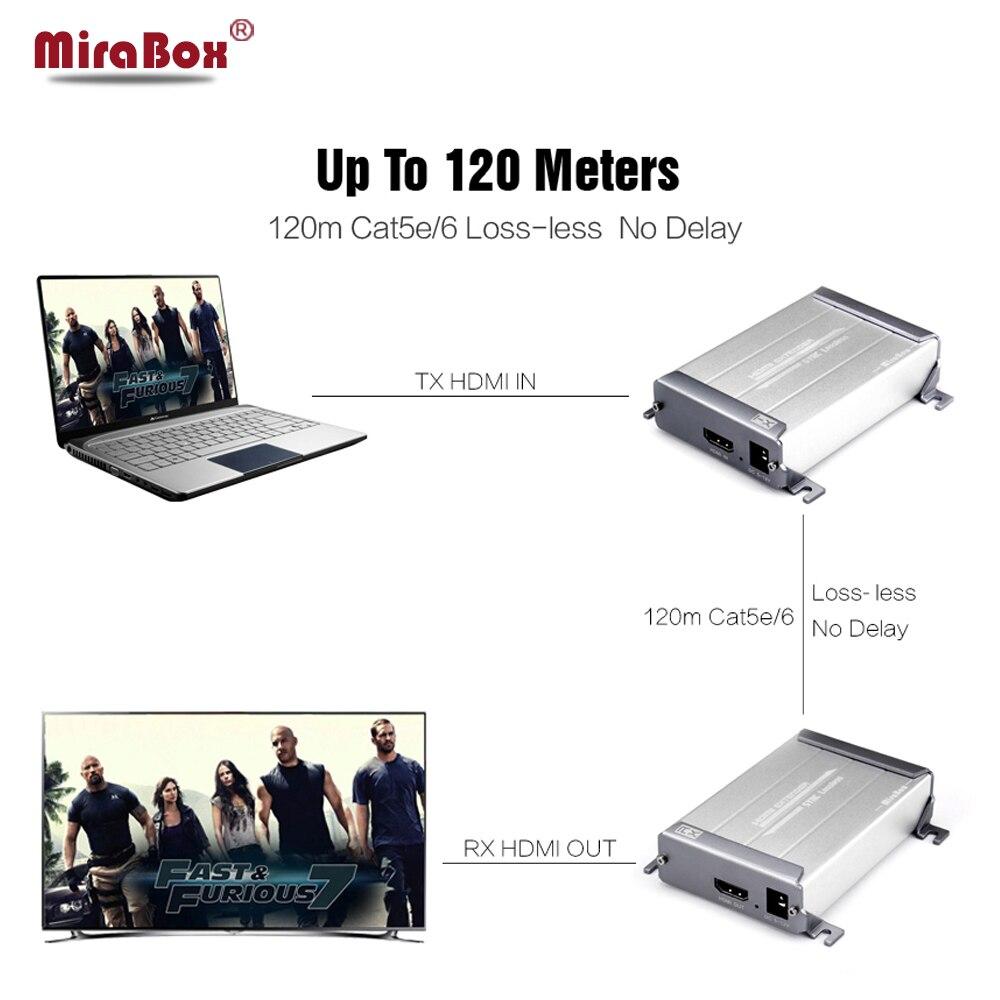 Mirabox HD1080P Lossless HDMI font b Network b font Extension Over Cat5 Cat5e Cat6 No Delay