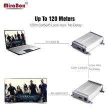 Mirabox HD1080P без потерь HDMI расширения сети более Cat5/Cat5e/Cat6 без задержки HDMI Extender Поддержка 120 м передатчик + приемник