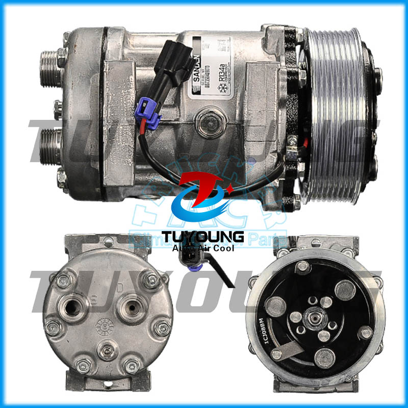Factory direct sale Auto AC 7H15 Compressor FOR Sanden 4421 Ford Sterling ABPN83-304113 8pk 119mmFactory direct sale Auto AC 7H15 Compressor FOR Sanden 4421 Ford Sterling ABPN83-304113 8pk 119mm