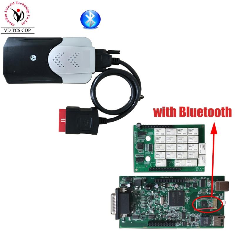 New Vci (2015 R3 Keygen CD) VD TCS CDP Pro con Bluetooth strumento Diagnostico per le Automobili Auto/Camion OBD2 Scanner Garanzia di Un Anno