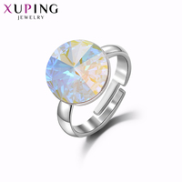Xuping Jewelry Round Shape Newest Ring Luxury Crystals from Swarovski Trendy for Women Christmas Eve Gift M62 10014