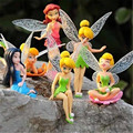 6pcs/lot Bell Toys Anime Cartoon Tinkerbell Fairy PVC Christmas Action Figure Toys Girls Dolls Gift 9cm