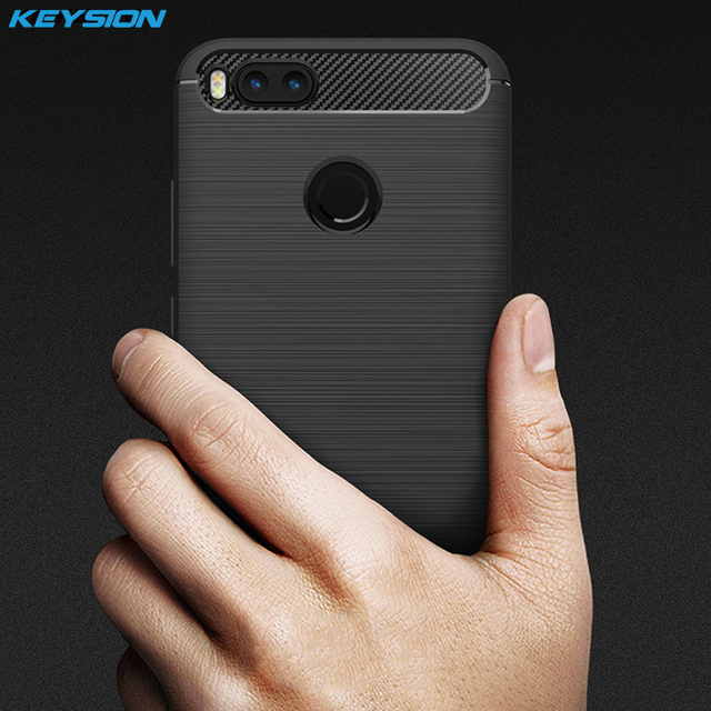 official photos 473bb 79e03 US $1.99 45% OFF|KEYSION Phone Case for Xiaomi Mi A1 Carbon Fiber Soft TPU  Silicone Brushed Anti knock Back Cover for Xiaomi A1 for Xiaomi Mi5X-in ...