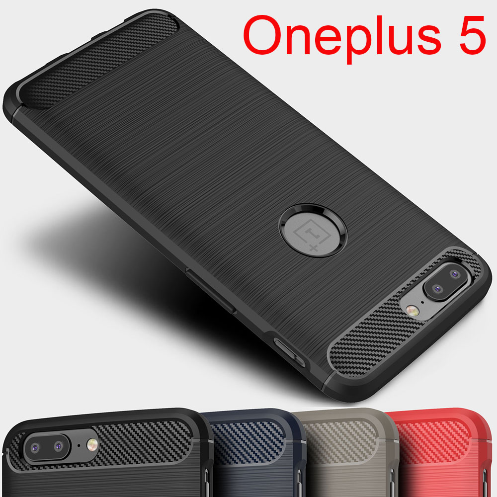 Oneplus 5 case Original Carbon Fiber Brushed Wire Drawing silicon ...
