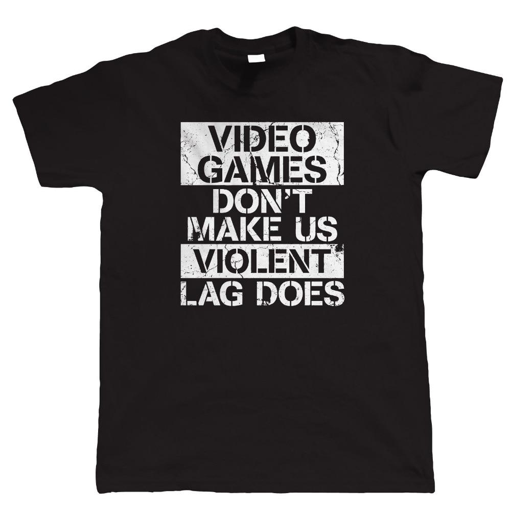 Cool Shirts Online MenS Crew Neck Short Sleeve Tall N Video Games DonT Make Us Violent Gamer Pc Gamer Fps Video Game T Shirt