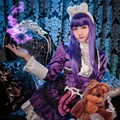 Online Game LOL The Dark Child Gothic Annie Cosplay Costume Purple Dress Gothic Lolita Dress Halloween Costumes for Women
