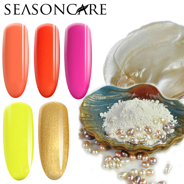 SEASONCARE Fashion Pearl fragrance UV Led Nail Gel Polish Soak Off Pro Nail Gel Lacquer Nail Art Glitter UV Gel Polish Nail Art