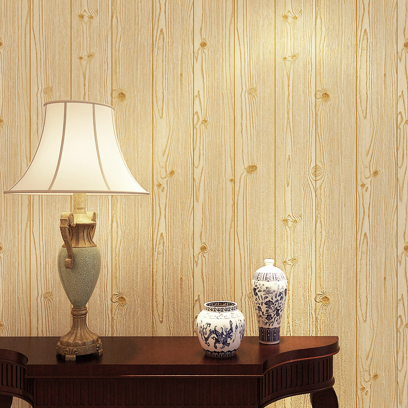 3d effect wood board wood grain vertical striped wallpaper - Wood effect wallpaper living room ...