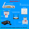 1Pair RJ45 Splitter Adapter RJ45 Female 1 to 2 port Female Ethernet CouplerSupports two devices access internet simultaneously promo