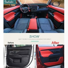Tonlinker Cover Case Stickers for Mitsubishi Outlander 2016-17 Car Styling 1-4 PCS PU Leather Interior anti dirty pad stickers