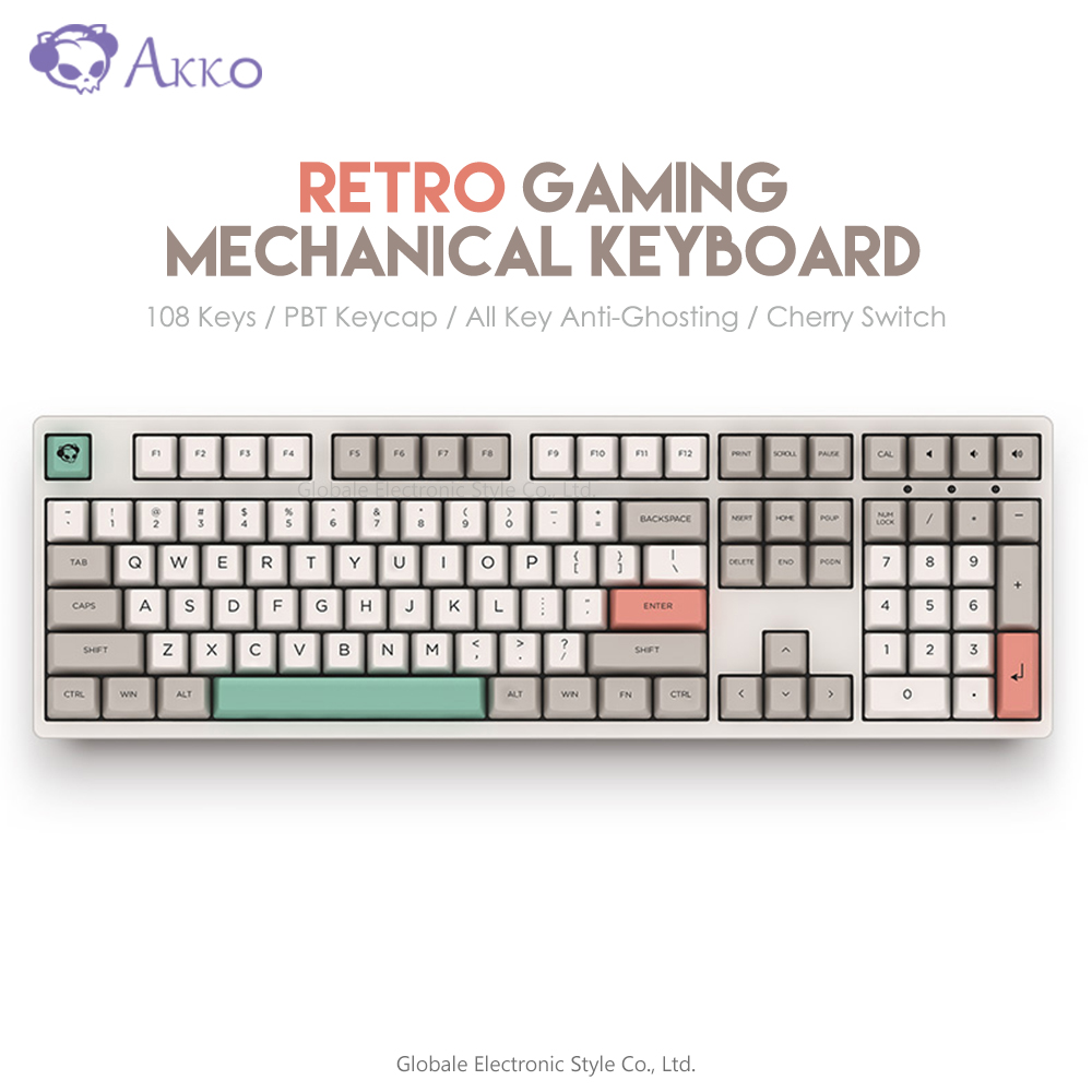 Original AKKO 3108 V2 - 9009 Retro Mechanical Keyboard 108 Keys USB Wired Type - C Computer Gamer Anti - Ghosting Cherry MX