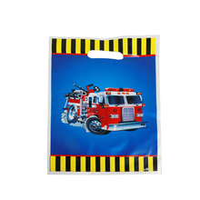 40pcs/lot Fire Truck Gift Bag For Babys Birthday Party Plastic Loot Children Baby Shower Candy Decoration Accessory