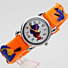Кожа кварцевые наручные часы мультфильм детей часы Часы для детей любимая девушка Рождество подарок милые спортивные аналоговые наручные часы ES