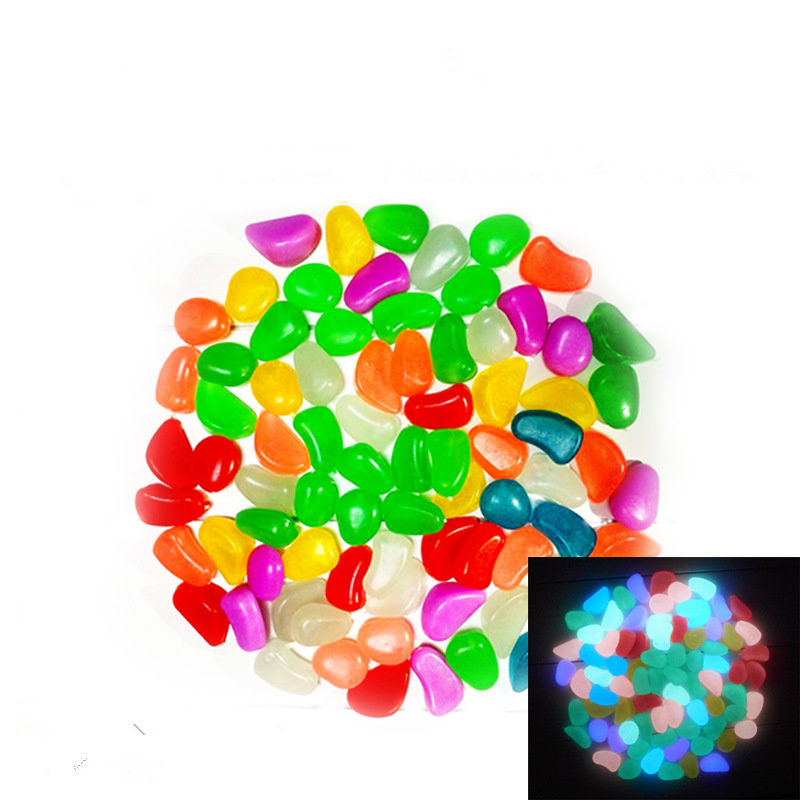 New 10pcs luminous light emitting artificial pebble stone for Aquarium stone decoration