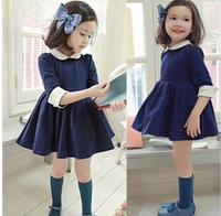 Free Shipping 2015 New Arrival Spring Autumn Girl S Cute Fashion Half Sleeve Princess Dress Hot