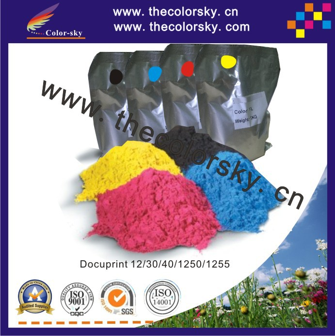 (TPXHM-DC12) laser color toner for Xerox 006R01049 DocuColor DC12 DC30 DC40 DC1250 DC1255 12 30 40 1250 1255 1kg/bag/color laser pinter spare parts color compatible cartridge for xerox 7400 toner reset chip
