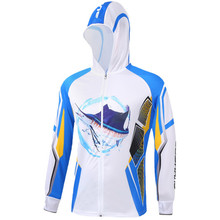 2018 New Fishing Clothing Mens Long Sleeve Hooded Breathable Quick Dry Shirt UV Protection Outdoor Sportswear Fishing Shirts