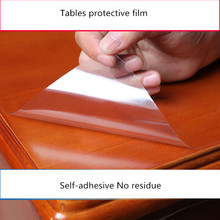 Furniture protective Transparent film Solid wood marble glass dining table tablecloth Kitchen self-adhesive waterproof film цены
