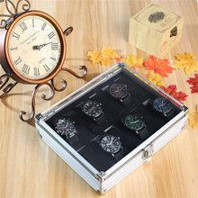 6 12 слотов коробка для часов авиационный алюминий Дисплей Чехол