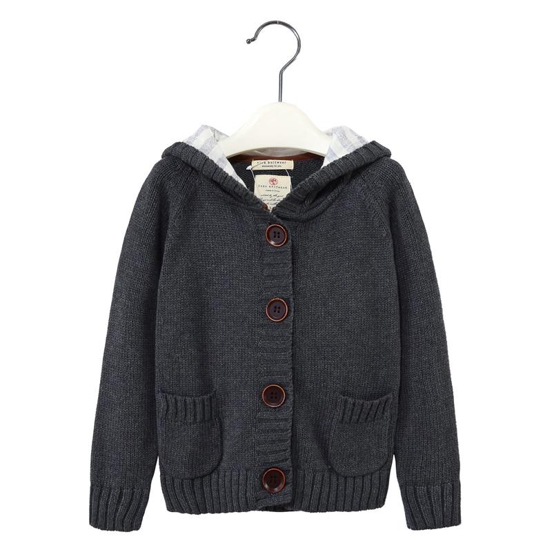 MamaLOVE/Осенне-зимний свитер с длинными рукавами для мальчиков детский свитер-кардиган согревающая теплая верхняя одежда для детей от 2 до 9 ле...