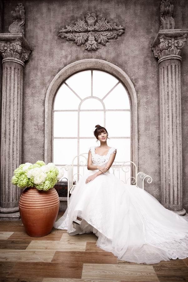 Fotografía de fondo de bodas en el templo retro Fondos de - Cámara y foto - foto 2