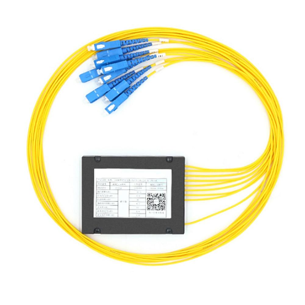 SC/UPC 1x8 FBT Fiber Optic Splitter 1310/1550nm Singlemode, PLC Splitter Module SM 1M, High Reliability