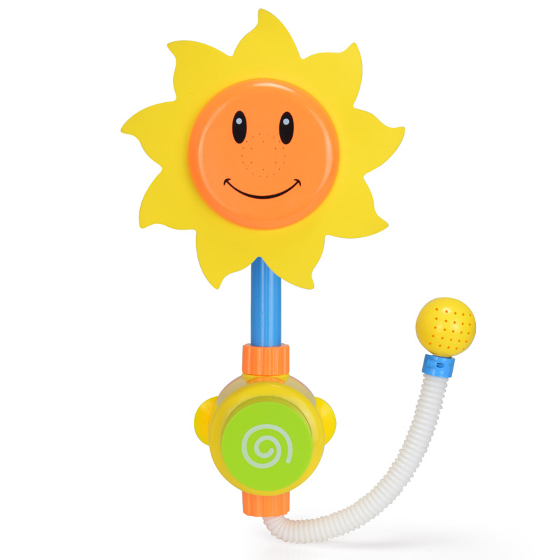 Baby Funny Water Game Bath Toy Bathing Tub Sunflower Shower Faucet Spray Water Spout Play Swimming Bathroom Bath Toys For Kids