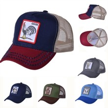 Women Baseball Cap Summer Mesh Cap For Men Animal Embroidery gorras animales Bones Snapback Hip Hop Hat Casual Cotton USA Hat цена