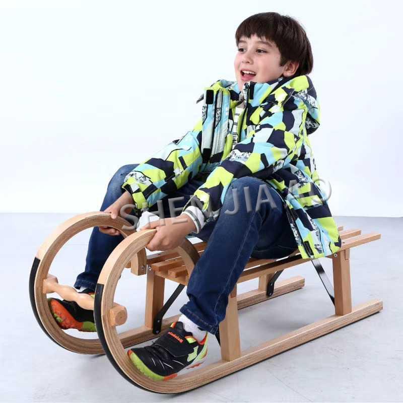 Ski Skating Machine / Solid Wood Sled / Children's Adult Ski Equipment / Family Winter Entertainment Skiing Supplies