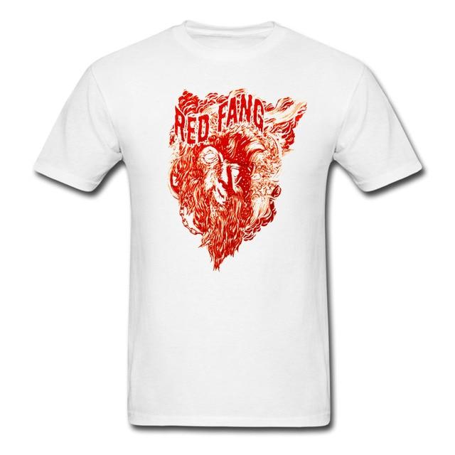 RED FANG Sensual Wolfman t shirt Men Women tee euro size S~XXXL