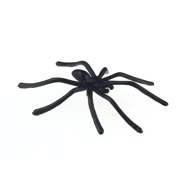 CHAMSGEND Modern pcs about4.5cmx5cm Halloween Plastic Black Spider Realistic Joking Toys home Decoration cheap big sale Sep30 11
