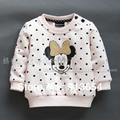 new 2014 spring autumn baby clothing child pullover sweatshirt baby girl cute dot cartoon fleeces kids sweater baby outerwear