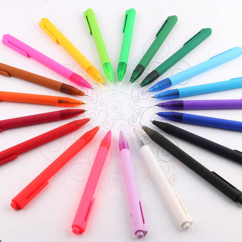 TERCEL 20PCS/set Pen Stationery Office School supplies Plastic Gel-Ink Pen Colors pens Minimalist student supplies 3pcs set kacogreen liquid ink gel pen plastic student office writing pens black blue red ink school supplies stationery