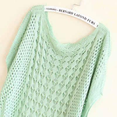 Pullover frauen 2020 neue mode sommer herbst Lose aushöhlen Fledermaus Ärmel Stricken dünne Pullover günstige tuch Vestidos LXJ039