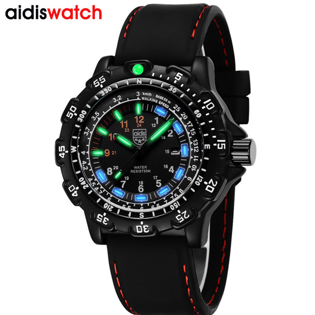 Aidis Männer Military Uhren Top Marke Fahsion Casual Sport Wasserdichte Outdoor Silikon Quarzuhr Männer Männlich Uhr Armbanduhr
