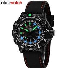 Aidis erkekler askeri saatler üst marka moda rahat spor su geçirmez açık silikon quartz saat erkekler erkek saat kol saati
