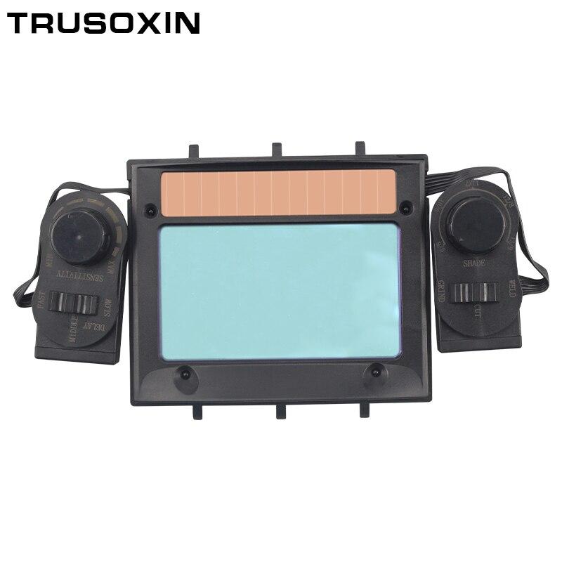 Out Adjust Big View 4 Arc Sensor Grind DIN5-DIN13 Solar Auto Darkening TIG MIG MMA Welding Mask/Helmet/Welder Cap's Lens Filter