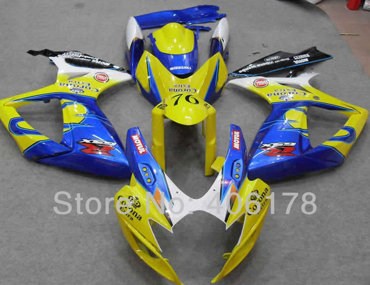 Hot Sales,GSX-R 06-07 k6 Fairing For Suzuki GSXR 600 750 2006-2007 Corona Aftermarket Motorcycle Fairing kit (Injection molding) hot sales for bmw k1200s parts 2005 2006 2007 2008 k1200 s 05 06 07 08 k 1200s yellow bodyworks aftermarket motorcycle fairing