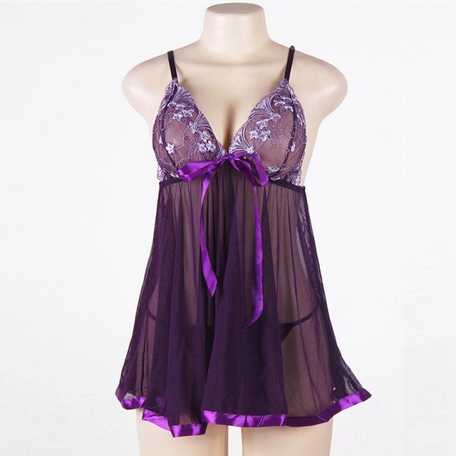 iShine Women's Sexy Lace Nightgown