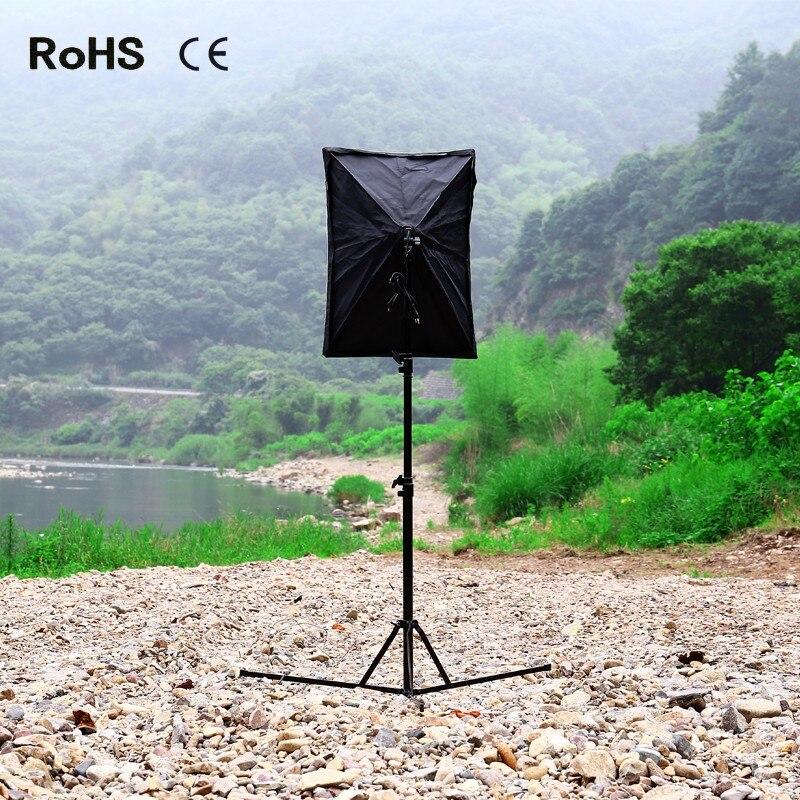 50cm*70cm Photography Softbox Light Lighting Kit Photo Equipment Soft Studio Light Softbox with 240cm/94.5inch Light Stand