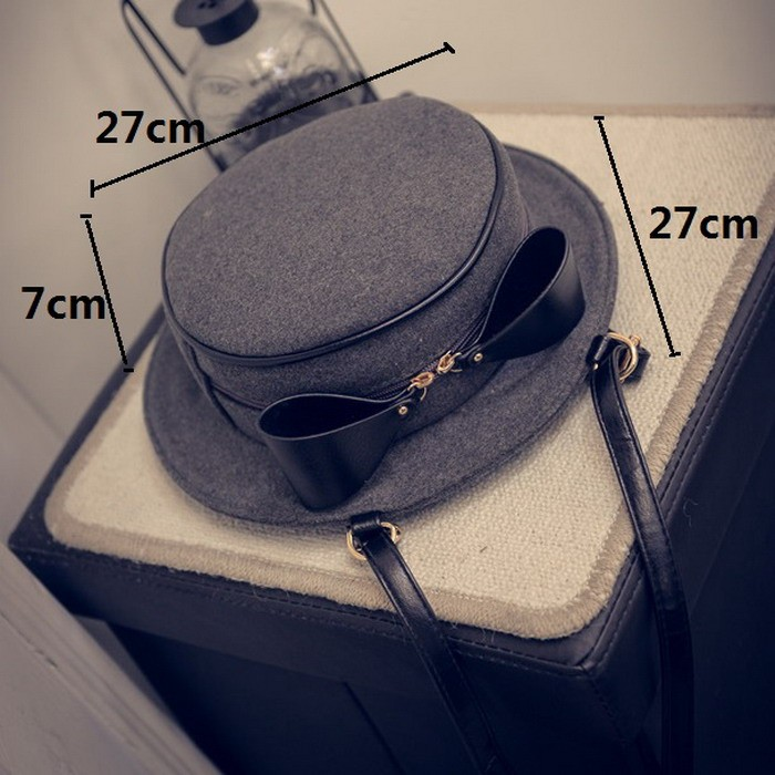 Cute Bow Shoulder Creative Girl Hat Cross Bag 8